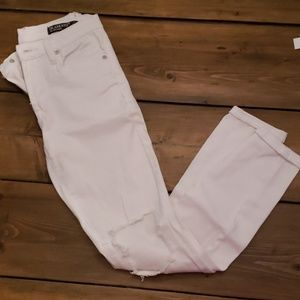 Blank NYC Ripped White Jeans